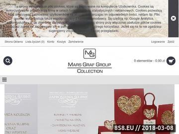 Zrzut strony Mars Graf Group - Zaproszenia ślubne, winietki na stół, oraz dodatki weselne.