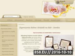 Miniaturka domeny zaproszeniaslub.pl