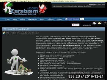 Zrzut strony Praca w domu - dodatkowa praca - zarabianie przez Internet