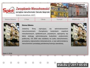 Zrzut strony SPLOT planowanie i zagospodarowanie przestrzenne