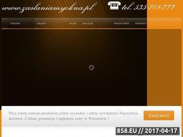 Zrzut strony Żaluzje plisowane Warszawa