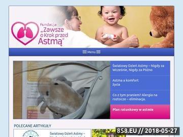 Zrzut strony Profilaktyka astmy