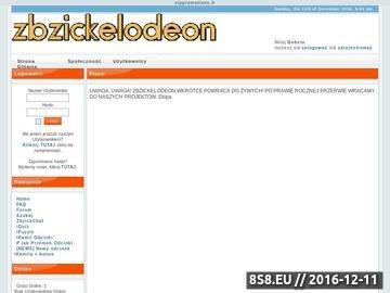 Zrzut strony Zbzickelodeon - telewizja internetowa, nasze własne filmiki i seriale.