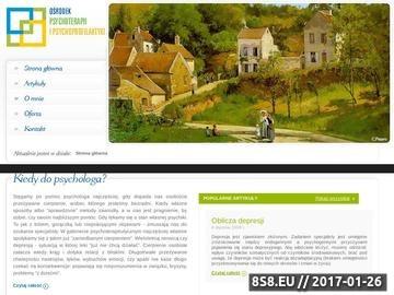 Zrzut strony Pomoc psychologiczna Katowice