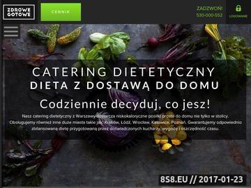 Zrzut strony Zdrowe Gotowe - Catering Dietetyczny