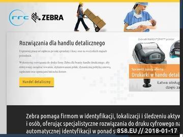 Zrzut strony Drukarka etykiet Zebra stacjonarna lub przenośna