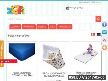 Zrzut strony Internetowy sklep z zabawkami, modelami zdalnie sterowanymi.