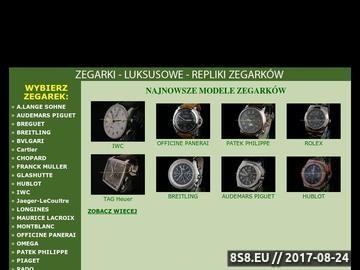 Zrzut strony Repliki zegarków
