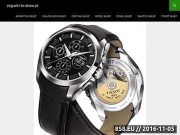 Zrzut strony Blog o zegarkach
