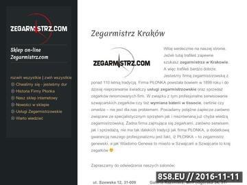 Zrzut strony Certina Kraków