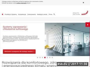 Zrzut strony Grzejniki - zehnder.pl