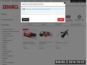 Zrzut strony Sklep Zeniro