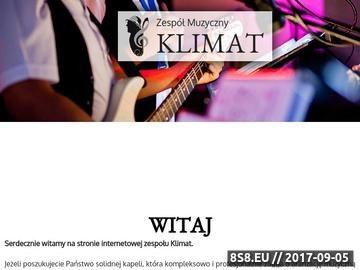 Zrzut strony Zespół muzyczny Klimat