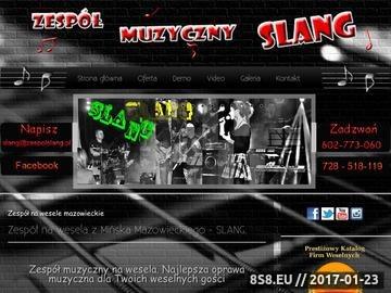 Zrzut strony Zespół muzyczny na wesela, zabawy i bankiety - SLANG