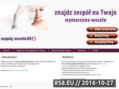 Miniaturka domeny zespoly-weselne24.pl