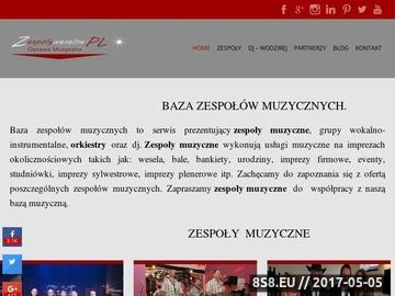 Zrzut strony Agencja Profesjonalnych Zespołów Muzycznych - Mirex