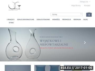 Zrzut strony ZeSzklem.pl - ręcznie tworzone szkło dekoracyjne i stołowe
