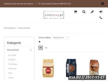 Zrzut strony Ziarna kawy