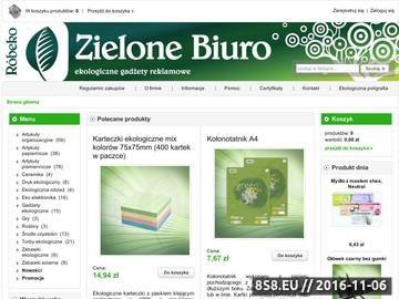 Zrzut strony Ekologiczne artykuły