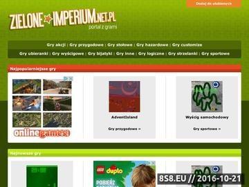 Zrzut strony Zielone Imperium - Portal z darmowymi grami on-line.