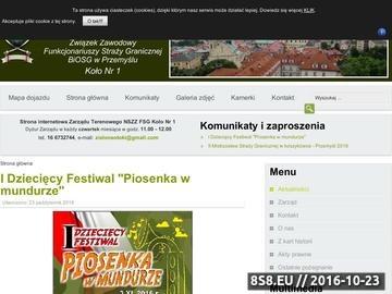 Zrzut strony Terenowa Organizacja Związkowa Emerytów i Rencistów SG w Przemyślu