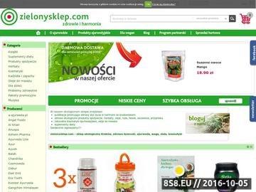 Zrzut strony Sklep internetowy ze zdrową żywnością i kosmetykami naturalnymi