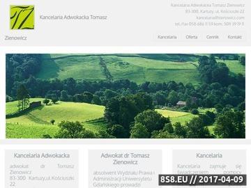 Zrzut strony Kancelaria Adwokacka Tomasz Zienowicz