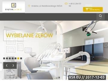 Zrzut strony Gabinet stomatologiczny Ziętek Clinic Kraków