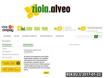Zrzut strony Preparaty lecznicze Alveo