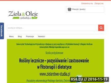 Zrzut strony Internetowy Sklep Zielarski
