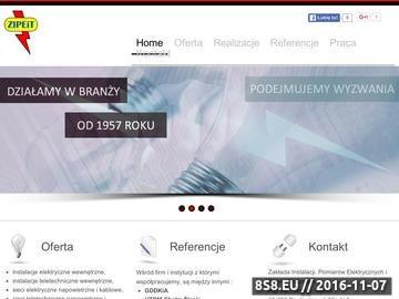 Zrzut strony ZIPEiT - instalacje, pomiary elektryczne i teletechniczne