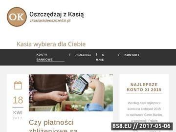 Zrzut strony Zarabiaj na koncie osobistym - zkasiacisieoszczedzi.pl