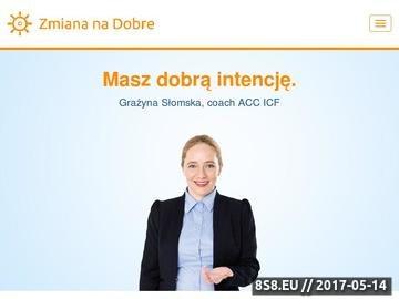 Zrzut strony Coaching kariery, coaching biznesu ZmianaNaDobre.pl