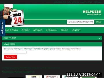 Zrzut strony Znaki BHP