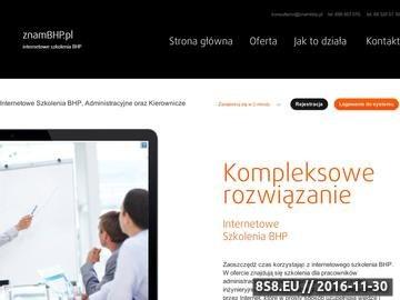 Zrzut strony Szkolenie BHP Online