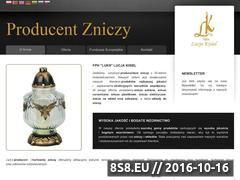 Miniaturka domeny www.zniczeluks.pl