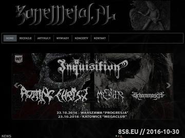 Zrzut strony ZoneMetal.PL - news, wywiady, recenzje, koncerty i relacje