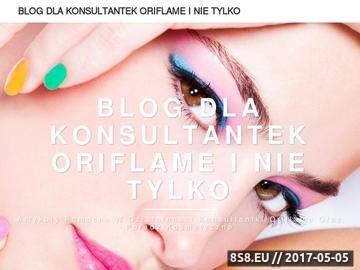 Zrzut strony Zostan konsultantka Oriflame - rejestracja do klubu Oriflame