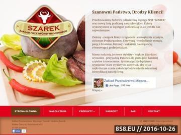 Zrzut strony Szarek produkcja szynki