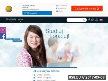 Zrzut strony Uczelnie Szczecin