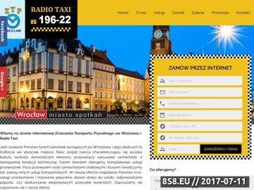 Zrzut strony ZTP taksówki Wrocław
