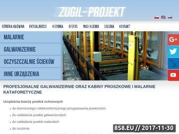 Zrzut strony Projekt maszyny galwanizacyjne - ZUGIL