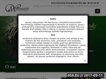 Zrzut strony Pochówek - Market