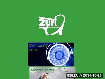 Zrzut strony Sklep internetowy z częściami elektronicznymi ZURT RTV- TV - SAT