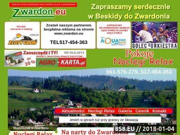 Zrzut strony Zwardoń