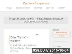 Miniaturka domeny www.zyczenia-swiateczne.com.pl