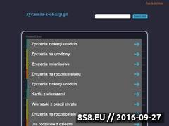 Miniaturka domeny www.zyczenia-z-okazji.pl