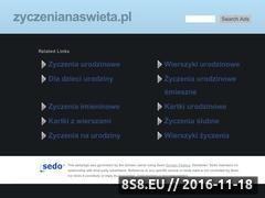 Miniaturka domeny www.zyczenianaswieta.pl