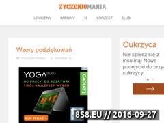 Miniaturka domeny zyczeniomania.com
