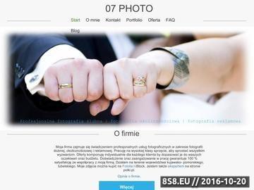 Zrzut strony Profesjonalna fotografia ślubna, okolicznościowa, reklamowa